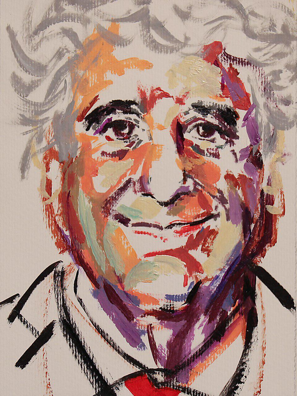 نمایشگاهی از نقاشی های یکصد پرتره مجموعه ای از آثار کوروش سرمدی