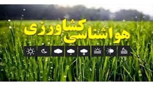 هشدارهای هواشناسی به کشاورزان و گلخانهداران/ پیش بینی بارشهای کمتر از نرمال در فصل پاییز