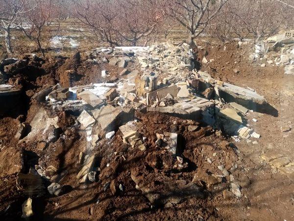تخریب 4 بنای غیرمجاز در اراضی کشاورزی شهرستان آبیک