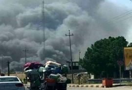 آتشسوزی گسترده در ۲۰ انبار مواد غذایی در نجف