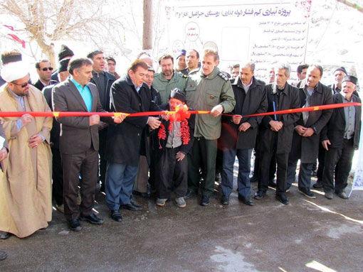 افتتاح طرح آبیاری کم فشار 12 کیلومتری در روستای جراغیل شهرستان آذرشهر