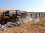 اجرای حکم 16 مورد قلع و قمع ساخت و سازهای غیرمجاز در اراضی کشاورزی شهرستان مرند