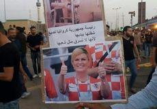 عکس متفاوت تظاهر کنندگان بصره