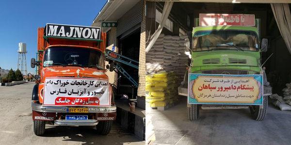 ارسال ۲۵ تن کمکهای کارخانجات خوراک دام و طیور به مناطق سیل زده