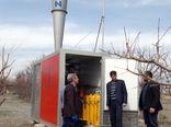 نصب و راه اندازی 4 دستگاه تگرگپران (ضد تگرگ )در باغات شهرستان شبستر
