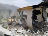 قلع و قمع چهار ویلای غیر مجاز در لاریجان آمل