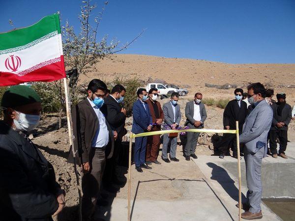 افتتاح استخر ذخیره آب کشاورزی قنات خارستان سیدان