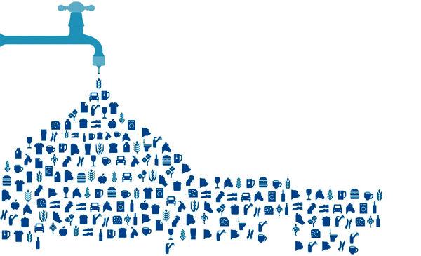 انتقال تولید و آب پنهان به جای آب