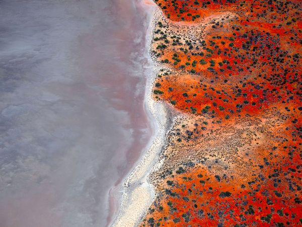 دریاچههای نمکی در استرالیا