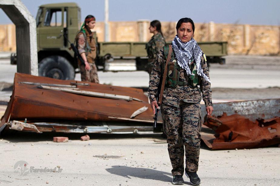 لیلا استرک، 22 ساله، از جنگجویان نیروهای دموکراتیک سوریه، سوریه