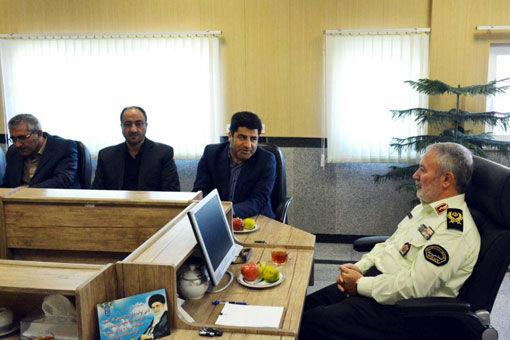 دیدار  رئیس سازمان جهادکشاورزی آذربایجان شرقی با فرماندهی انتظامی استان