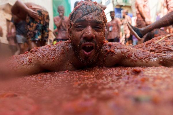 جشنواره گوجهفرنگی در اسپانیا