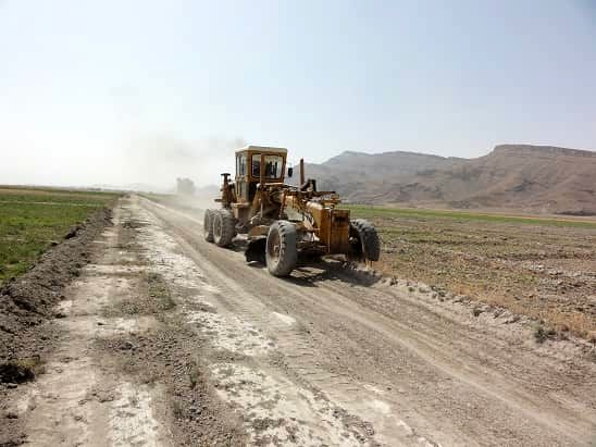 جاده بین مزارع هیربدان داراب به بهره برداری رسید