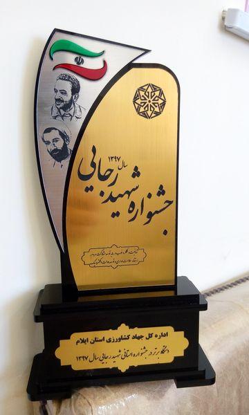 کسب رتبه اول جهادکشاورزی ایلام در جشنواره شهید رجائی