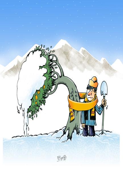 تهدید موج جدید سرما برای محصولات کشاورزی/ کارتون: فیروزه مظفری