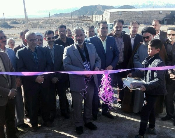 افتتاح پروژ ه مجتمع گاوشیری دشت مرک شهرستان بیرجند در ششمین روز دهه فجر