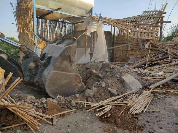 ۵ مورد ساخت و ساز غیر مجاز در باغستان سنتی قزوین تخریب شد