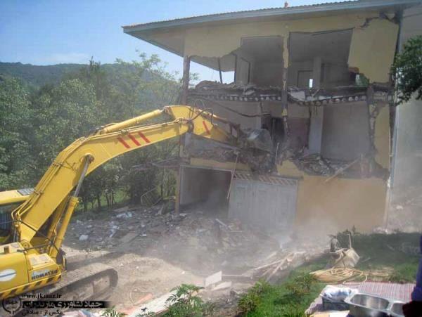 تخریب 48 بنای غیرمجاز در تنکابن
