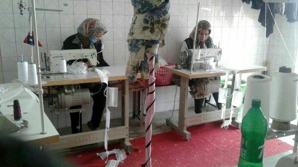 تولید ماسک توسط زنان روستایی  شهرستان بویین زهرا