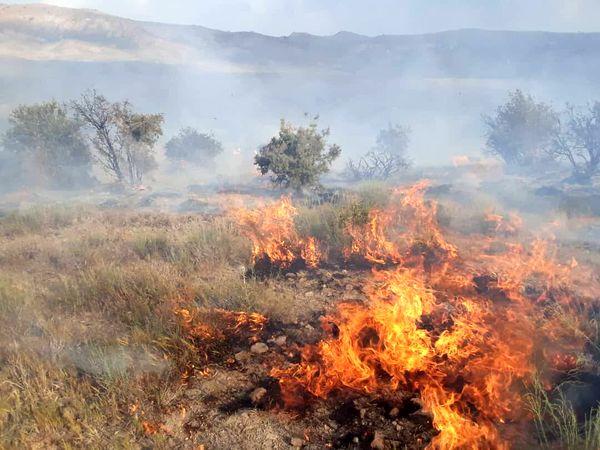 تشکیل ۳۰ پرونده آتشسوزی مراتع در خراسان شمالی