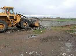 دو بنای غیرمجاز در  اراضی کشاورزی شهرستان البرز تخریب شد