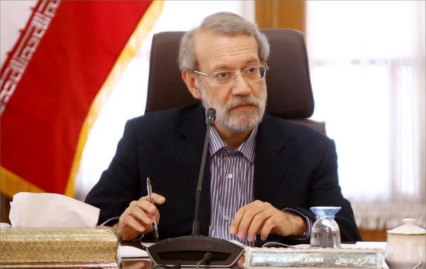 لاریجانی قطع کمکرسانی آمریکا به آنروا را محکوم کرد