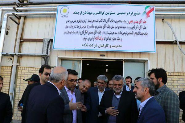بازدید وزیر جهاد کشاورزی از یک شرکت فرآوری تخم مرغ در شهرستان آرادان
