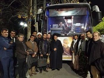 کاروان رهپویان سپهبد سلیمانی از جهاد کشاورزی فارس به کرمان اعزام شدند