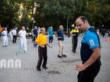 ورزش صبحگاهی در پارک لاله تهران