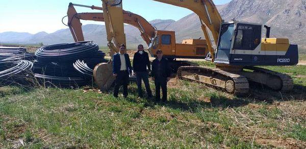 عملیات اجرایی طرح آبیاری بارانی شهر شلمزار آغاز شد