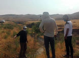 تحویل زمین پروژه احداث کانال آبیاری عمومی و فلوم روستای ساری بیگلو در شهرستان خداآفرین