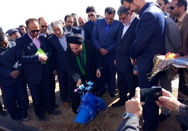 افتتاح پروژه آبیاری کم فشار موتورپمپ قدس شهرستان بشرویه