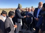 بازدید سرپرست وزارت جهاد کشاورزی از طرح ۴۶ هزار هکتاری انتقال آب با لوله به دشت سیستان