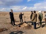 بازدید  مدیر کل منابع طبیعی و آبخیزداری خراسان شمالی از یک پروژه نهالکاری در محدوده پروژه ترسیب کربن