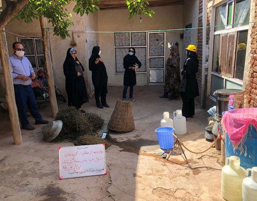 بازدید از فعالیت گروههای صندوق خرد زنان توتاخانه شهرستان بناب با حضور کارشناس صندوق کارآفرین امید