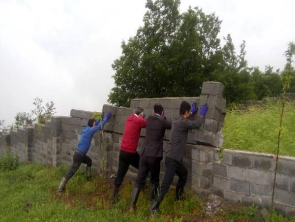 50 مورد دیوارکشی غیرمجاز در چالوس تخریب شد