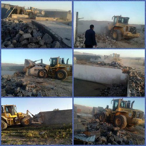 قلع و قمع ساخت و ساز های غیر مجاز در فسا