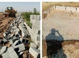 دو بنای غیر مجاز در اراضی کشاورزی شهرستان آبیک قلع و قمع شد