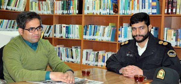 دیدار فرمانده یگان حفاظت از اراضی استان رئیس روابط عمومی سازمان جهاد کشاورزی خراسان جنوبی