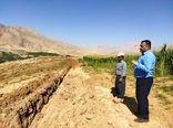آغاز عملیات اجرایی تجهیز اراضی کشاورزی روستای رستم آباد به سیستم های نوین آبیاری
