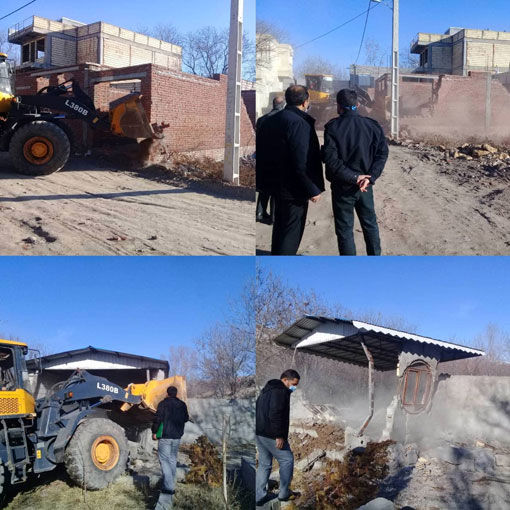 آزاد سازی یک هکتار از اراضی کشاورزی شهرستان مراغه