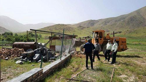 قلع و قمع46 مورد ساخت وساز غیر مجاز در اراضی زراعی و باغ های استان مرکزی