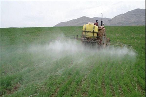 مبارزه 772هکتاری جهاد کشاورزی شمیرانات علیه آفات عمومی