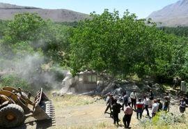 تخریب ۴۴ مورد از ساخت و سازهای غیرمجاز در اراضی کشاورزی