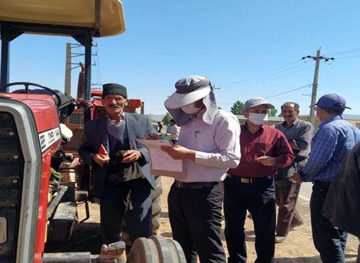اجرای طرح پلاک گذاری تراکتورهای کشاورزی در سه منطقه شهرستان هریس