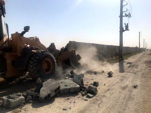 33هکتاراز اراضی کشاورزی رباط کریم از ساخت وسازهای غیرمجاز آزادسازی شد