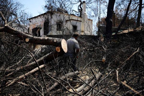 خسارات گسترده آتشسوزی یونان