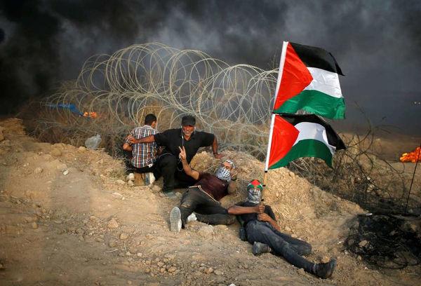 ادامه تظاهرات فلسطینیان در مرز غزه