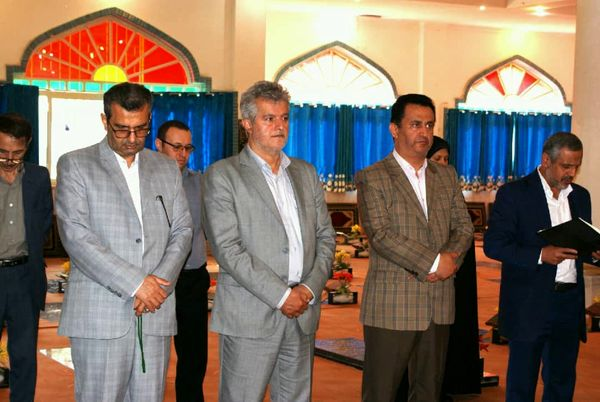 گلباران مزار شهدای شهرستان لاهیجان در دومین روز از هفته جهاد کشاورزی
