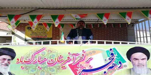 زنگ انقلاب در روز اول دهه فجر با حضور  رییس سازمان جهاد کشاورزی استان